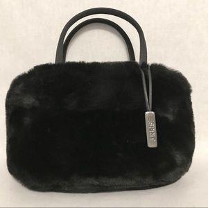 90's Vintage ESPRIT Mini Fur Pom-Pom Bag